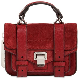 Proenza Schouler Ps1 Micro Suede Top Handle Bag