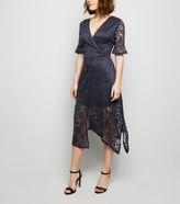 New Look AX Paris Lace Overlay Midi Dress