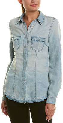Blank NYC Denim Linen-Blend Shirt