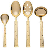 Kate Spade Set of 4 Larabee Dot Hostess Set - Gold