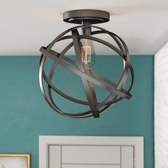 Milly 1-Light Semi Flush Mount Wrought Studio