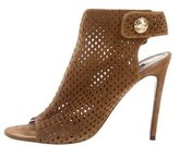 Louis Vuitton Perforated Peep-Toe Booties