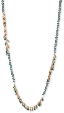 "lonna & lilly Gold-Tone Shaky Bead Strand Necklace, 34"" + 3"" extender"