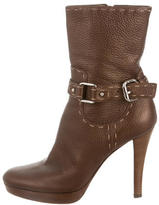 Fendi Metallic Ankle Boots
