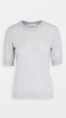 White + Warren Cashmere Elbow Sleeve Crew Neck Tee