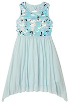 Beautees Big Girls' 7-16 Sequin Bodice Sharkbite Hem Formal Dress