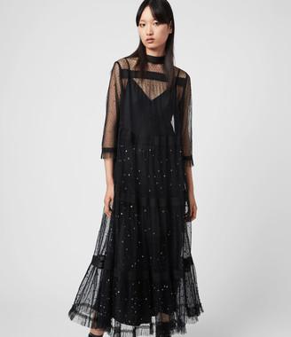 AllSaints Nima Embellished Dress