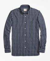 Brooks Brothers Checkered Broadcloth Sport Shirt