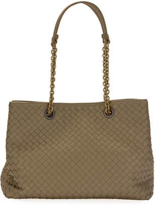 Bottega Veneta Intrecciato Medium Double-Chain Tote Bag