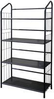 Home Decorators Collection 4-Shelf Metal Bookcase in Black
