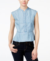 Velvet Heart Pala Denim Peplum Top