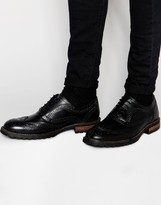 Red Tape Brogues - Black