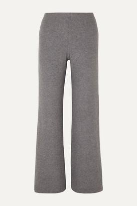 Leset Lori Two-tone Brushed Stretch-knit Wide-leg Pants - Gray