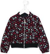 Moncler floral print bomber jacket - kids - Cotton/Polyamide/Polyester - 8 yrs