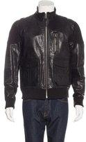 PRPS Leather Zip Jacket
