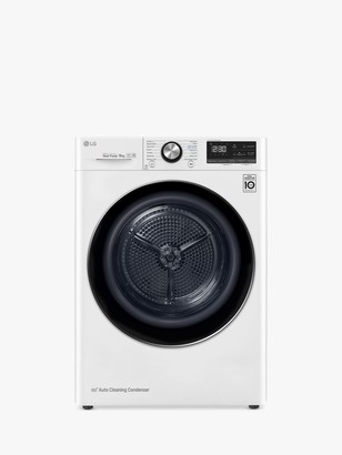 LG Electronics Eco Hybrid V900 FDV909W Tumble Dryer, 9kg Load, A+++ Energy Rating, White