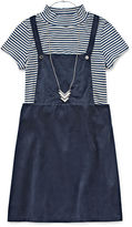 Speechless Striped Mock Neck Jumper - Girls