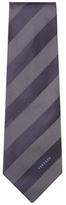 Versace Graphic Stripes Silk Tie
