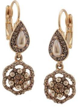 Carolee The Jennifer Gold Faux Pearl Cluster Drop Earrings