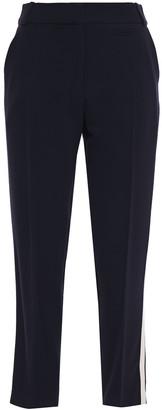 Claudie Pierlot Grosgrain-trimmed Crepe Tapered Pants