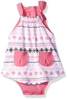 Bon Bebe Girls' 1 Piece Sundress with Built in Diaper Cover