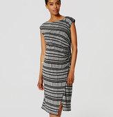LOFT Petite Maternity Striped Wrap Dress