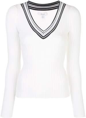 Milly Francesca striped neck jumper