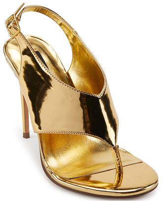 DKNY Women's Sandals AGD:ANTIQ.GOLD - Antique Gold Cia T-Strap Pump - Women