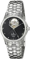 Edox Women's 85013 3 NIN Grand Ocean Analog Display Swiss Automatic Silver-Tone Watch