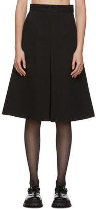 SHUSHU/TONG Black Single Pleat Skirt