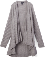 U.S. Polo Assn. Heather Grey Open-Front Cardigan - Toddler & Girls
