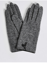 M&S Collection Wool Rich Button Loop Gloves