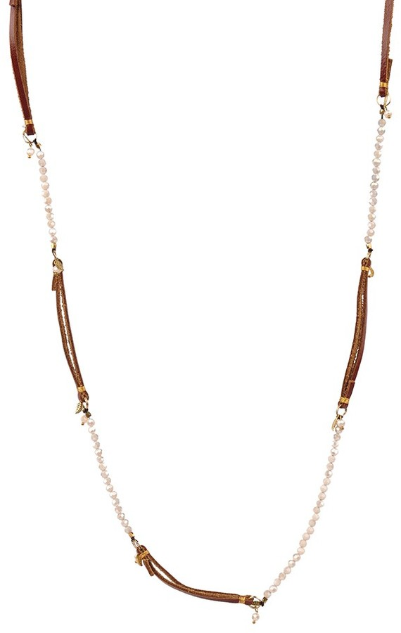 Nakamol Leather and Beaded Necklace