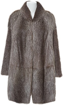 Marni Grey Beaver Coats