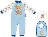 Moschino Kids teddy print romper set