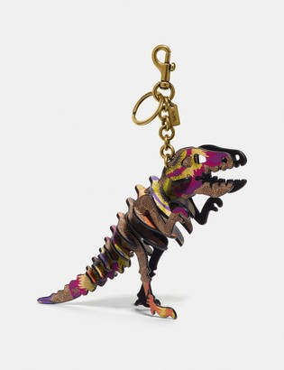 Coach Rexy Bag Charm In Signature Canvas With Kaffe Fassett Print