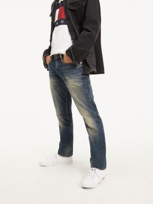 Tommy Hilfiger Straight Cut Distressed Jeans