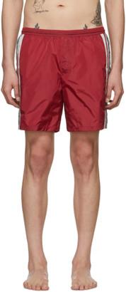 Gucci Red GG Swim Shorts