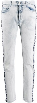 Stella McCartney Logo Tape Skinny Jeans