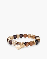 Chico's Girlfriend Faux-Tiger Eye Powerbead Bracelet