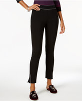 INC International Concepts Piped Skinny Ankle Pants, Created for Macy's