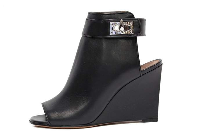 Givenchy Shark leather open toe boots