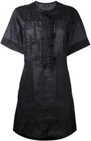 Isabel Marant tonal embroidered short dress - women - Ramie/Polyester/Silk - 38