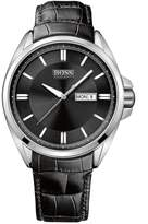HUGO BOSS 1512874 Men's Black Dial Black Leather Strap Watch
