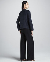 Eileen Fisher Stretch Crepe Wide-Leg Pants