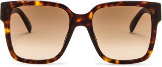 Givenchy Square Sunglasses in Dark Havana | FWRD