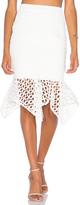 Aijek Doubleday Embroidered Handkerchief Skirt