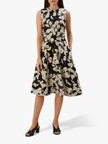 Hobbs Twitchill Linen Dress, Ecru Black