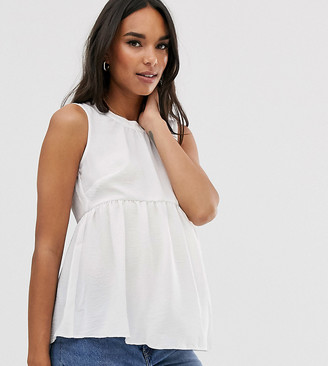 ASOS DESIGN Maternity smock top in washed linen