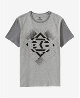 Express EXP textured cube graphic t-shirt